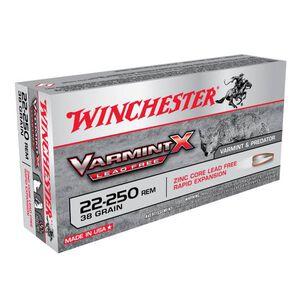Winchester Varmint X .22-250 Remington Ammunition 20 Rounds Lead Free PT 38 Grains X22250PLF