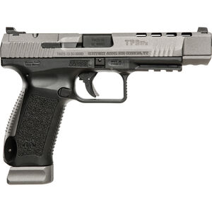 "Century Arms Canik TP9SFX Semi Auto Pistol 9mm Luger 5.2"" Barrel 20 Rounds Fiber Optic Sights Interchangeable Grips Black Polymer Frame Tungsten Gray Slide Finish"