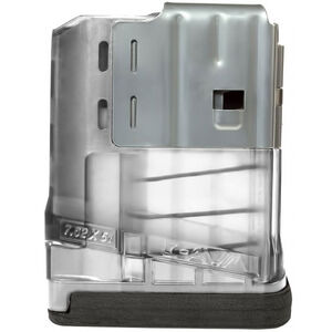 Lancer L7 Advanced Warfighter Magazine .308 Win/7.62 NATO 5 Rounds Polymer Translucent Clear