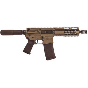 "Diamondback DB-15 AR Semi Auto Pistol 5.56 NATO 7.5"" Barrel 4 Rail Hand Guard Burnt Bronze"