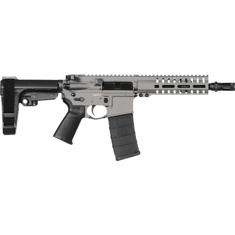 "CMMG Banshee 300 Mk4 .300 Blackout AR-15 Semi Auto Pistol 8"" Barrel 30 Rounds RML7 M-LOK Handguard CMMG Micro/CQB RipBrace Titanium Finish"