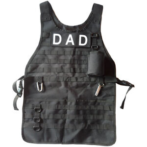 Caliber Gourmet Tactical BBQ Apron With Carabiner and Bottle Opener