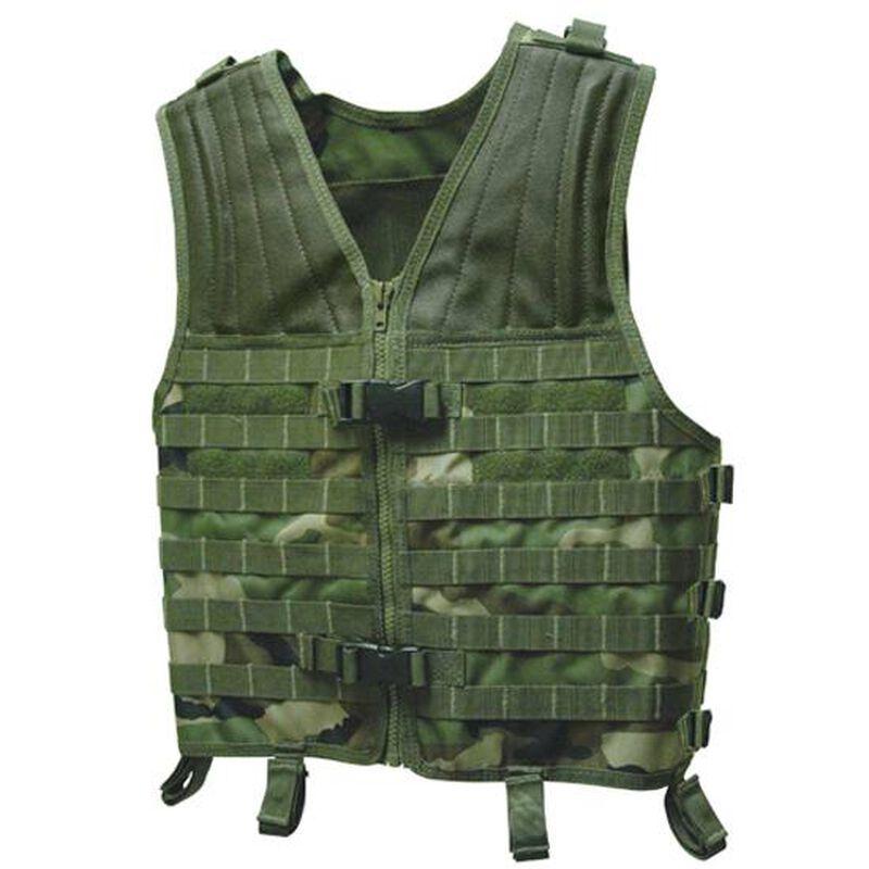 Voodoo Tactical Deluxe Universal Vest Nylon Woodland Camo