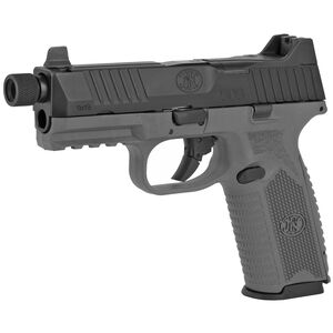 """FN America FN 509 Tactical 9mm Luger Semi Auto Pistol 4.5"""" Threaded Barrel 10 Rounds Red Dot Compatible Night Sights Ambidextrous Controls Polymer Frame Black/Grey"""