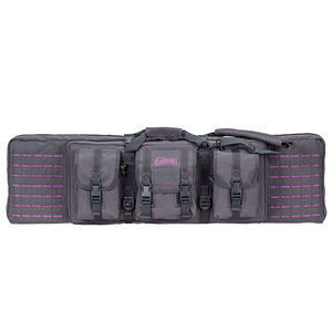 "Voodoo Tactical 42"" Padded Weapons Case Nylon Gray/Purple"