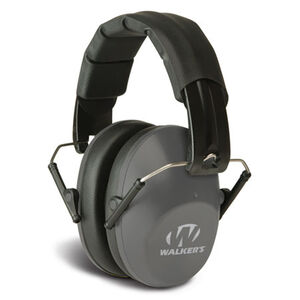 Walkers Pro Low Profile Folding Muff Passive Over Ear Hearing Protection Gray