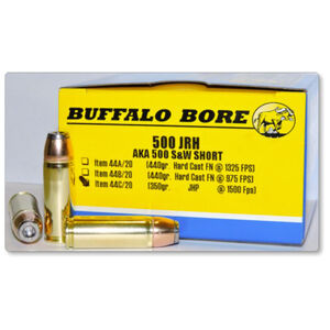 Buffalo Bore .500 JRH Ammunition 20 Rounds JHP 350 Grain 44C/20