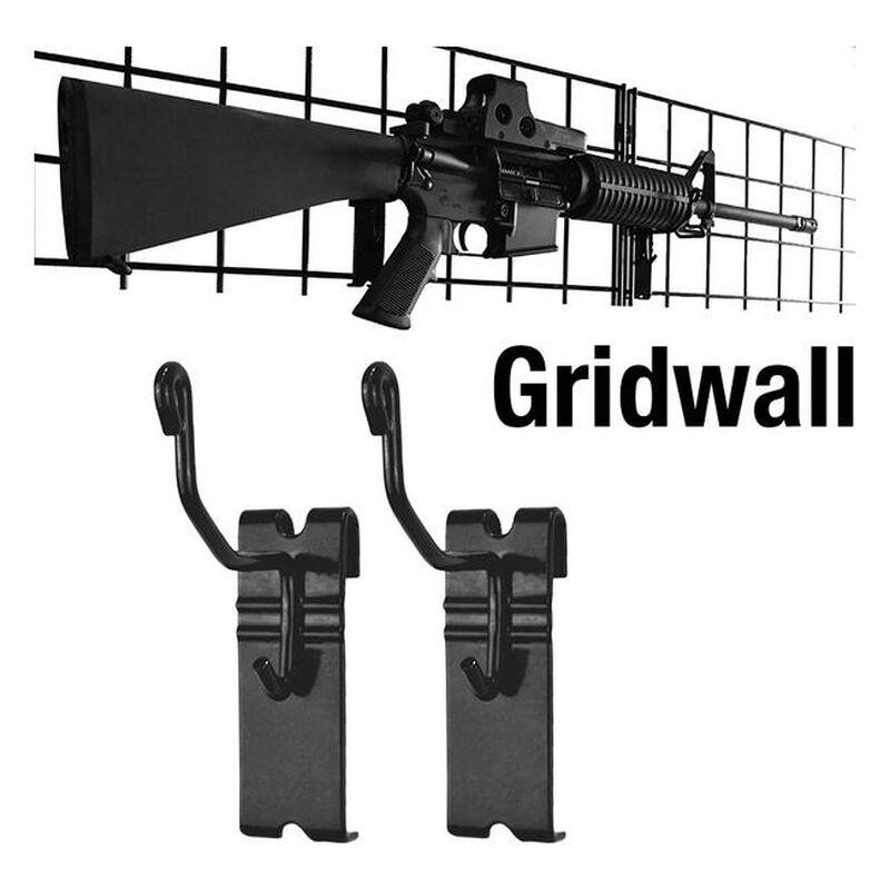 Gun Storage Solutions Horizontal Gun Cradles Gridwall 10 Pack Matte Black