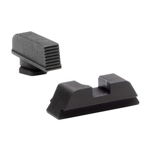 Ameriglo Sight Set for GLOCK Black Serrated Front and Flat Black Rear