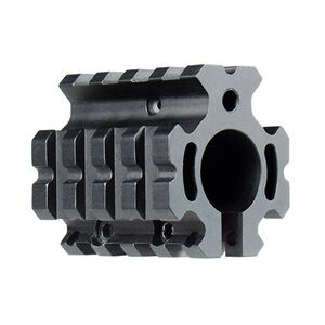 Leapers UTG PRO AR-15 Low Profile Quad Rail Gas Block Aluminum Black MTU012