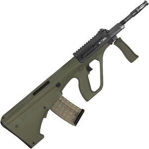 "Steyr AUG A3 M1 Semi Auto Rifle .223 Rem/5.56 NATO 16"" Chrome Lined Barrel 30 Round AUG Pattern Magazine with Short Rail Matte Green Finish"