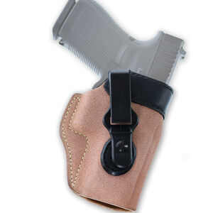 Galco Scout 3.0 Holster Fits GLOCK 26/27/33 IWB Ambidextrous Natural Leather Black Mouth Band