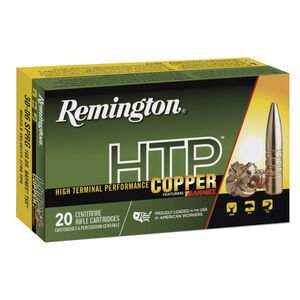 Remington HTP Copper .30-06 Springfield Ammunition 20 Rounds 168 Grain Barnes TSX Boat Tail