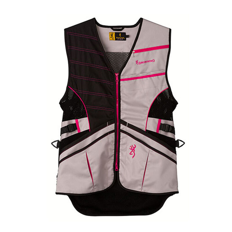 Browning Ace Women's Polyester Shooting Vest Large Hot Pink