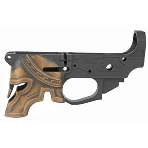 Spike's Tactical Rare Breed Spartan AR-15 Stripped Lower Receiver Multi Caliber Marked Painted Helmet Aluminum Black