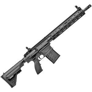 "HK MR762A1 7.62 NATO Semi Auto Rifle 16.5"" Barrel 20 Round Magazine M-LOK Free Float Hand Guard Collapsible Stock Matte Black"