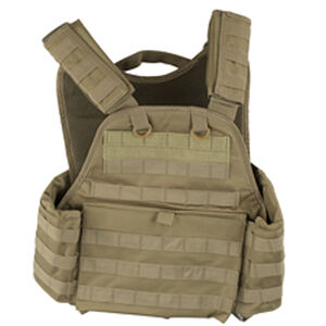 NcSTAR Plate Carrier Vest Size Med to 2XL Nylon Tan