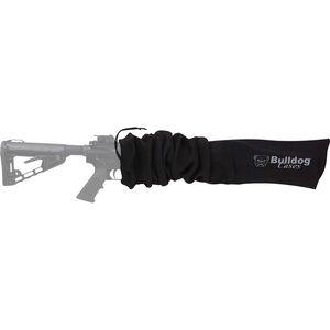 "Bulldog Cases Gun Sock Tactical Rifle 45""x6"" Cotton Knit Black"
