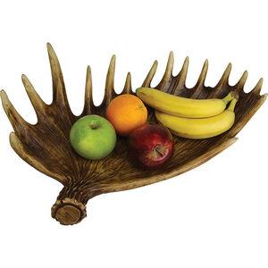River's Edge Products Moose Antler Fruit Bowl
