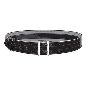 """Safariland Model 87V Suede Lined 2.25"""" Duty Belt With Velcro System 36"""" Waist Brass Buckle Basket Weave Black 87V-36-8B"""