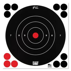 """Pro-Shot Splatter Shot 8"""" White Bull's-eye 30 Pack"""