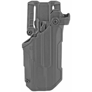 BLACKHAWK! T-Series L3D Level 3 Light Bearing Duty Holster Fits GLOCK 17/19/22/23 with TLR-1, 2 Left Hand Polymer Plain Finish Black