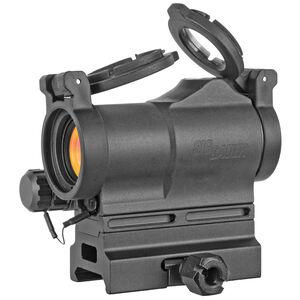 SIG Sauer Optics Romeo7s 1x22 Compact 2 MOA Green Dot Sight  AAA Battery Picatinny Mount Black
