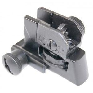 Guntec AR-15 Rear A2 Style Fixed Iron Sight Aluminum/Steel Anodized Black
