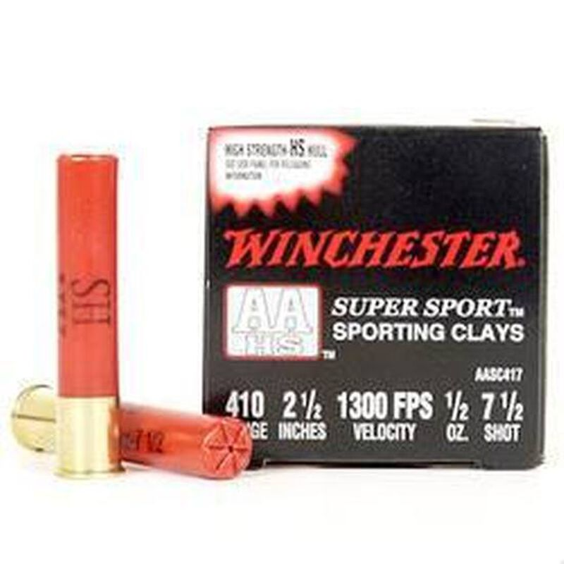 "Winchester AA Super Sport 410 2-1/2"" #8 1/2 oz 25 Rd Box"
