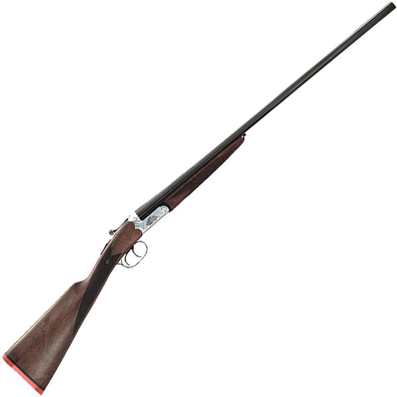 "Taylor's & Co Huntress 28 Gauge SxS Break Action Shotgun 26"" Barrel 3"" Chamber 2 Rounds Walnut Stock Silver/Blued Finish"