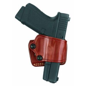 Gould & Goodrich Gold Line Yaqui Belt Slide Holster Right Hand Fits Ruger SR9/SR40 Leather Chestnut Brown