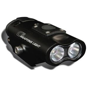 Lucid C3 Weapon Light 300 Lumens LED White Light CRE XPE2 Picatinny Mount AAA Battery Powered 6061 T6 Aluminum Matte Black