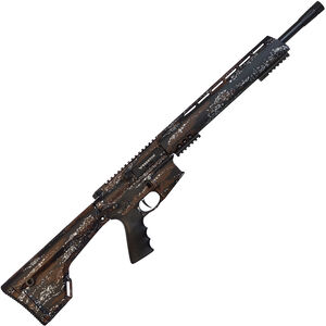 "Brenton USA Ranger Carbon Hunter .450 Bushmaster AR-15 Semi Auto Rifle 18"" Barrel 5 Rounds Free Float Handguard Fixed Stock Harvest Camo Finish"