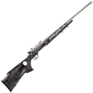 """Savage Arms B.MAG Target Bolt Action Rifle .17 WSM 22"""" Barrel 8 Rounds Grey Synthetic Laminate Thumbhole Stock Matte Stainless Steel Barrel Finish with Accutrigger 96972"""