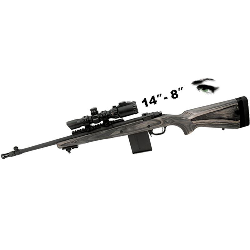 Leapers UTG, Accushot 1-4x28 Long Eye Relief Rifle Scope, Illuminated 36 Color Circle Dot Reticle, 1/2 MOA, 30mm Tube with Rings, Aluminum, Matte Black