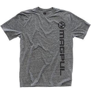 Magpul Men's Megablend Vertical Logo Tee Shirt Cotton/Poly Large Heather MAG665-030-L