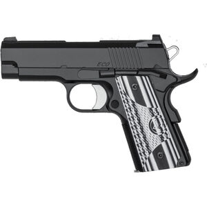 "Dan Wesson 1911 ECO Semi Auto Pistol .45 ACP 3.5"" Bull Barrel 7 Rounds G10 Grips Black Finish 01969"