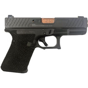 "Shadow Systems SG9C 9mm Luger Semi-Auto Handgun 4.01"" Bronze Barrel No Magazine Stippled Frame Enhanced Slide Front Night Sight Black"