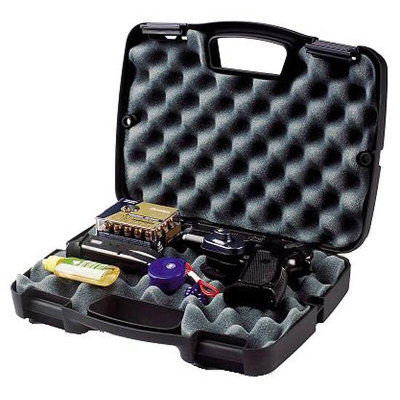 Plano SE Series Single Pistol Case Recessed Latches Molded In Handle High Density Interlocking Foam Polymer Matte Black 1010137