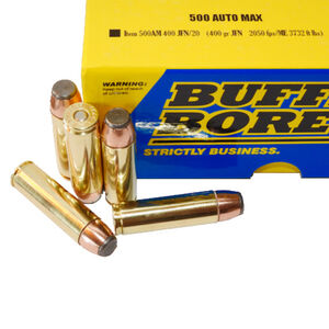Buffalo Bore .500 Auto Max Ammunition 20 Rounds JFN 400 Grains