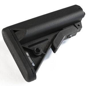 JE Machine Tech AR15/M4 Sporting Butt Stock Adjustable Mil Spec Polymer Black