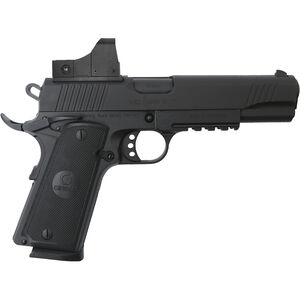 "EAA Girsan MC1911S .45 ACP 1911 Semi Auto Pistol 5"" Barrel 8 Rounds Full Sized Government Profile Red Dot Optic Steel Frame with Accessory Rail Matte Black Finish"
