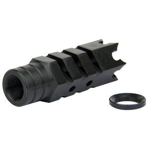 "TacFire .223/5.56 1/2""X28 Shark Style Muzzle Brake Steel Black MZ1004"