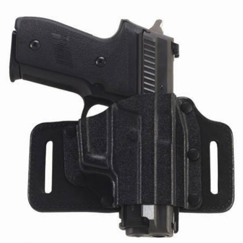 Galco TacSlide OWB Holster For GLOCK 9/40 Right Hand Kydex/Leather Black TS224B