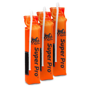 D.T. Systems Small Scent Strip Dog Training Dummy 3 Pack Nylon Blaze Orange