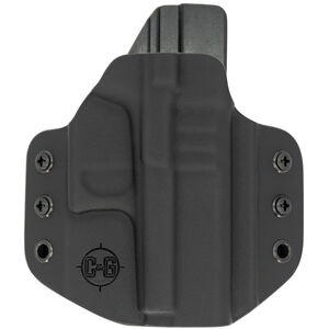 """C&G Holsters Covert OWB Holster For 1911's with 3.5"""" Barrels Officer Models Right Hand Draw Kydex Black"""