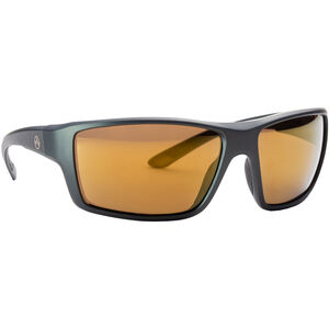Magpul Summit Shooting Glasses Gray Frame Polarized Anti-Reflective Bronze/Gold Mirror Lenses