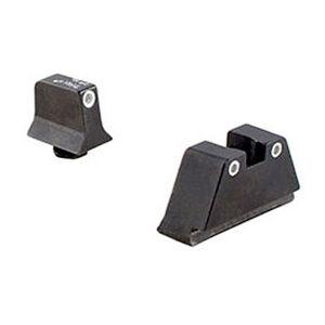 Trijicon GLOCK 10mm/.45 ACP Bright & Tough Suppressor Height Night Sight Set Green Front Green Rear Tritium Steel Black