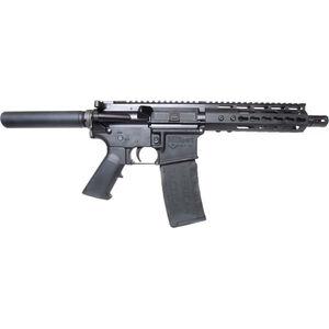 "ATI MilSport AR-15 5.56 NATO Semi Auto Pistol 7.5"" Barrel 30 Rounds KeyMod Hand Guard Pistol Buffer Tube Matte Black Finish"