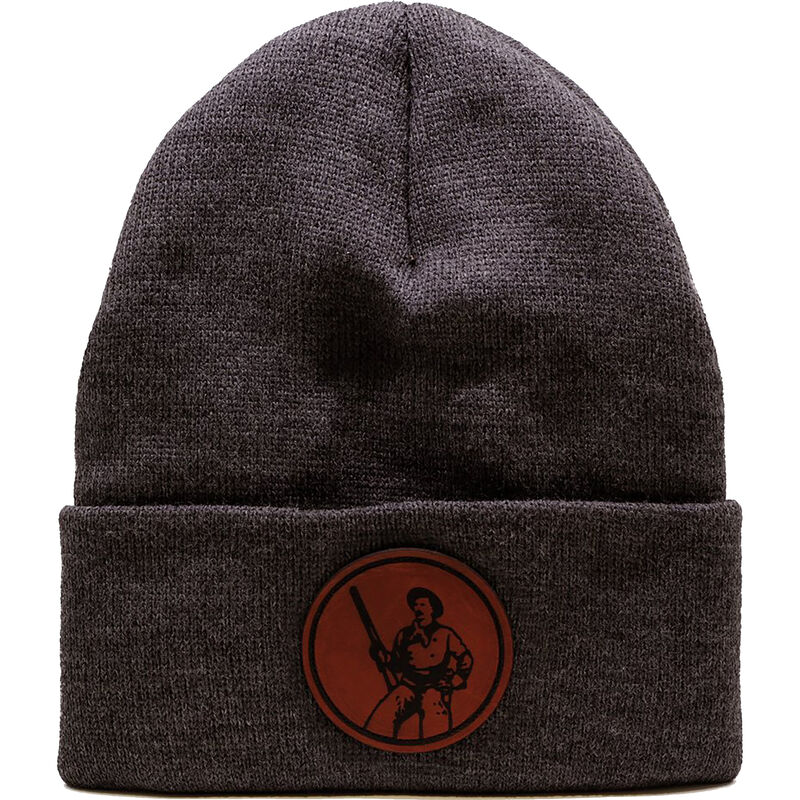 Henry Repeating Arms Leather Patch Logo Winter Beanie Hat OSFA Dark Gray